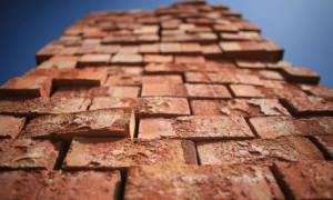 bricks piled up